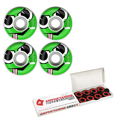 Toy Machine Skateboards Wheels 53mm Angry Turtle with Amphetamine Bearings