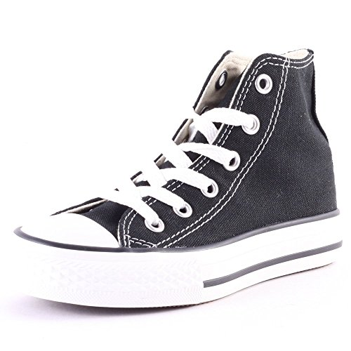 Converse Youths Chuck Taylor All Star Hi, Sneakers bassi Unisex Bambino, Black, 30 EU