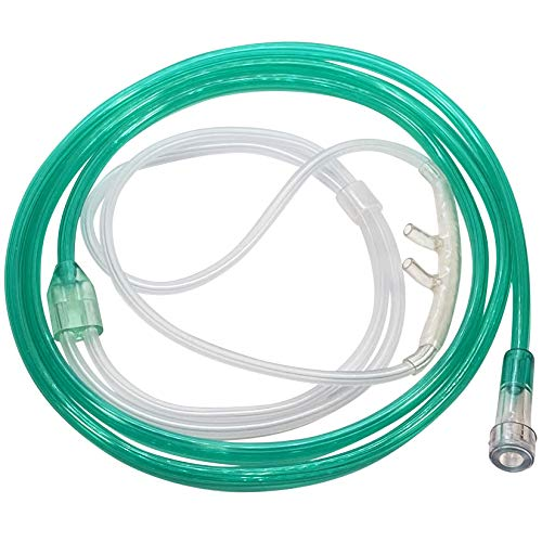 25-Pack Westmed #0554 Adult High Flow Comfort Soft Plus Cannula with 4' Emerald Green Kink Resistant Tubing