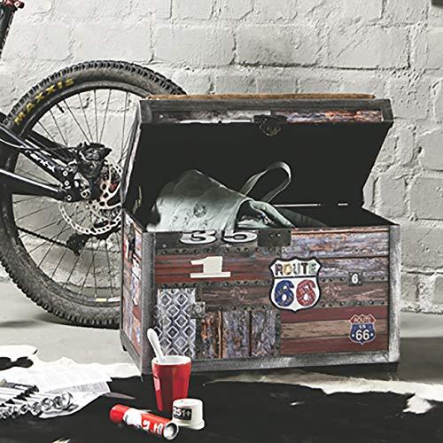 HAKU Möbel Sitztruhe, vintage_Route 66, 65x40x42cm - 3