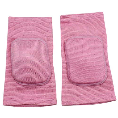 MINILUJIA Children's Kids Knee Brace Pad Tight Non-Falling Sponge Sleeves Breathable Flexible Elastic Support Protector Cover 2PCS/Pair (xs,Pink)