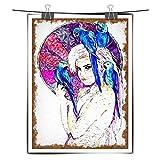 ChuangYing HD Print Home Dekoration Gemälde Mädchen mit Papagei Aquarell Wandtattoo