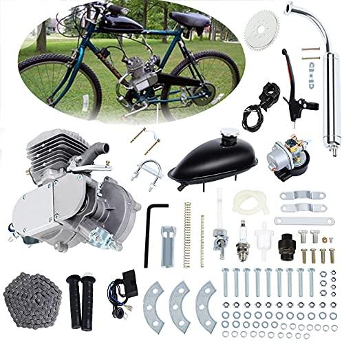 Ambienceo 80cc 2 Ciclo di Pedale a Corsa Kit di conversione Bicicletta per Benzina a Benzina per Argento Moto motorizzato