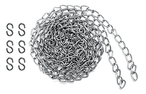 Lifstar #200 X 10-FT Hobby and Craft Twist Chain, Nickel Plated, 0.07