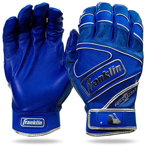 Franklin Sports MLB Batting Gloves - Powerstrap Chrome Adult Mens + Youth Batting Gloves Pair - Baseball + Softball Gloves...