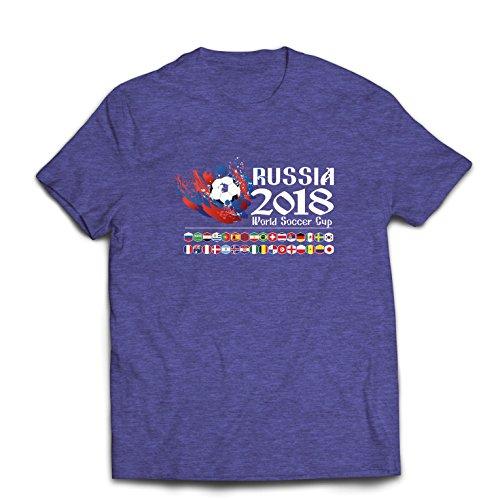 lepni.me heren T-shirt Russland-wereldcup-Cup 2018, alle 32 nationale voetbalteam vlaggen