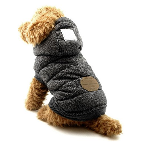 SELMAI Fleece Dog Hoodie Winter Coat for...