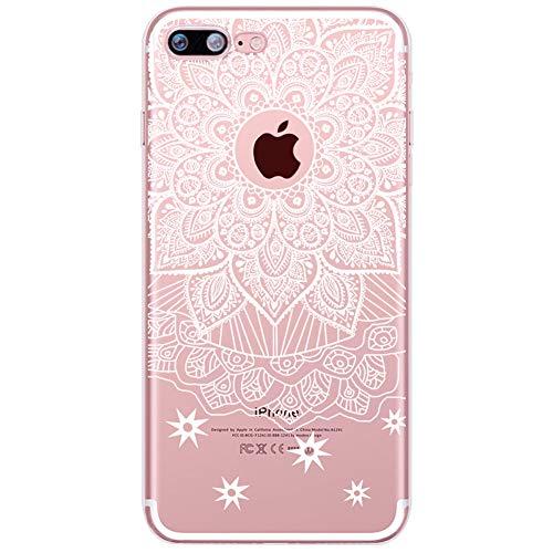 Homikon [Liquid Crystal Ultra Mince TPU Silicone Coque Fleur Motif Etui de Protection Souple Transparent Clear Case Soft Flexible Housse Étui Case Cover Couverture pour iPhone SE/5S/5 - Mandala#1
