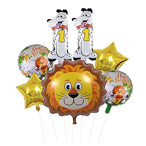 XIAOZSM Globos Lion Head Globos Set Animal Número de Diapositivas Globos Cumpleaños Cumpleaños Fiesta de cumpleaños Decoraciones Baby Shower ( Farbe : 11 )