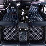 Jiahe El Alfombra Coche para Hyundai Santa Fe 5seat 2005-2015 Alfombra Personalizada Coche para Cuero Esteras Coche Antideslizantes Alfombrillas Moqueta Impermeables Set Oro