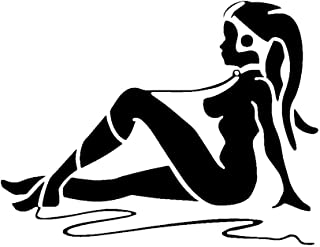 LCK Unique Design Star Wars Jabba Twilek Slave Dancer, Black, 8 Inch, Die Cut Vinyl Decal, for Windows, Cars, Trucks, Toolbox, Laptops, MacBook-virtually Any Hard Smooth Surface