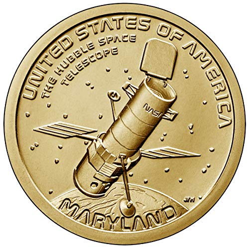 2020 P, D American Innovation Maryland - Hubble Space Telescope $1 Coin - P and D 2 Coin Set Uncircualted