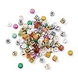 Fashewlery 1800 pezzi 11 stili lettera cuore acrilico perline piatte rotonde cubi amore cuore alfabeto A-Z perline sciolte distanziatori per fai da te artigianato creazione di gioielli