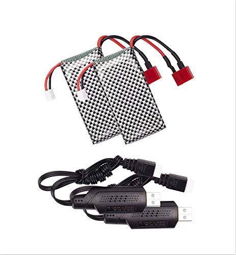 BEZGAR RC Car Spare Parts 7.4V, 1600mAh Soft Li-Po Battery Pack for BEZGAR 1