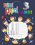 primi passi 3 anni: Linee di lettere: libro di attività per bambini: età 3+: libro di attività per b...
