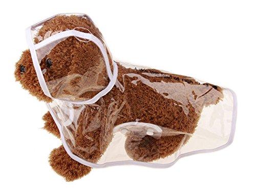 Regenmantel Hund, Legendog Kleine Hunde Transparent Regenjacke Regencape Regendecke Wasserdicht Hundekleidung Packable Pet Regen Kleidung für Kleiner Mittelgroße Große Hunde Welpen (XS-XL)
