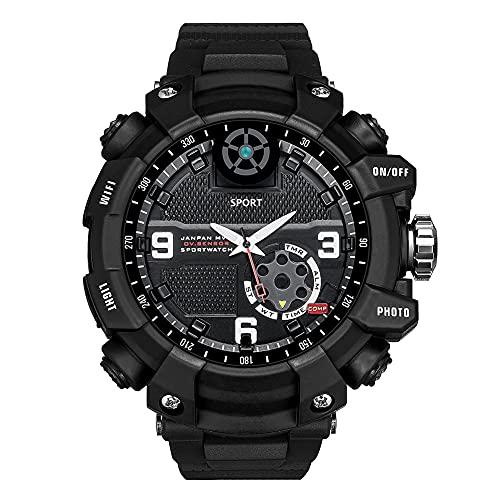 Reloj militar para hombre al aire libre, resistente al agua, WIFI, supervivencia, reloj inteligente con foto y video HD de 2.6K y detección de movimiento, para escalada, senderismo, aventura (128GB)