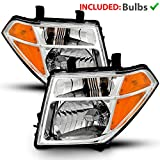 Best Headlights - AmeriLite Chrome Replacement Headlight Set for 05-08 Frontier Review