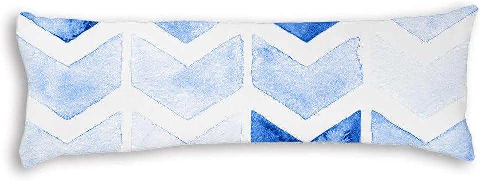 PotteLove Decorative Brand new Body Pillow Case Arrows Blue Pregnanc Easy-to-use Silky