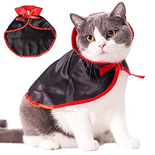 Costume pour Chat , Costumes pour Animaux de Compagnie Halloween Cape en Manteau de Vampire