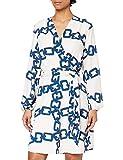 Morgan Robe imprimé chaîne RILOU Casual Dress, Ivoire, T38 Womens