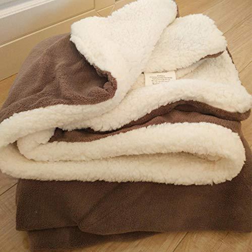 XUMINGLSJ Mantas para Sofa, Mantas para Cama de Franela Reversible, Mantas Ligeras de 100% Microfibra - Fácil De Limpiar - Extra Suave Cálido -marrón_El 180 * 200cm