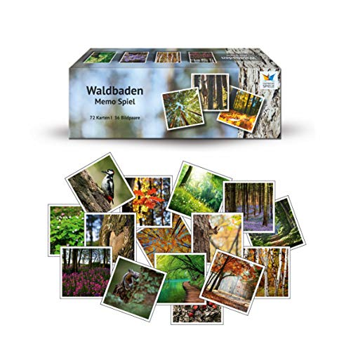 Starnberger Spiele - Waldbaden - Memospiel Naturliebhaber - Tolles Spiel für die ganze Familie