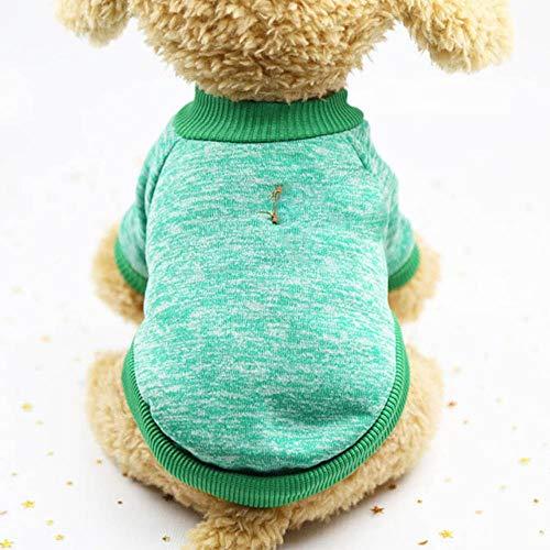 PONNMQ Chaud Classique vêtements Chien Chiot Chat vêtements Pull Veste Manteau Hiver Mode Doux pour Les Petits Chiens Chihuahua XS-2XL, 5, S