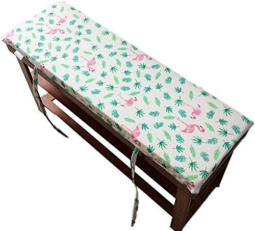 HANHAN Cojín grueso para banco con cremallera, para interior y exterior, cojín suave antideslizante para tumbona de jardín, terraza, columpio, banco, sofá, lavable