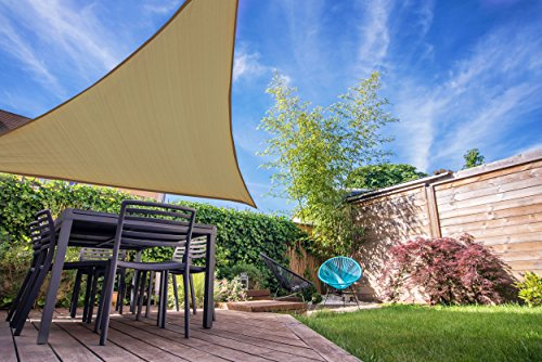 Coolaroo toldo Triangular Listo para Colgar, 12 pies, Color café
