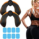 M MITLINK 2 Pack Butt Hips Trainer Upgrade Muscle Toner Fitness Training Gear Home Office Ab Trainer Workout Equipment Machine Fitness for Women Men,6pcs Free Gel Pads