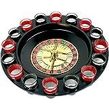 Gorei Trinkspiel Schnapsglas Roulette Komplettset Trinkspielset Trinkspiel im Casino-Stil 16tlg -