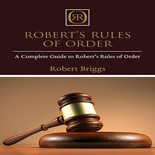 Robert's Rules of Order audiobook cover art