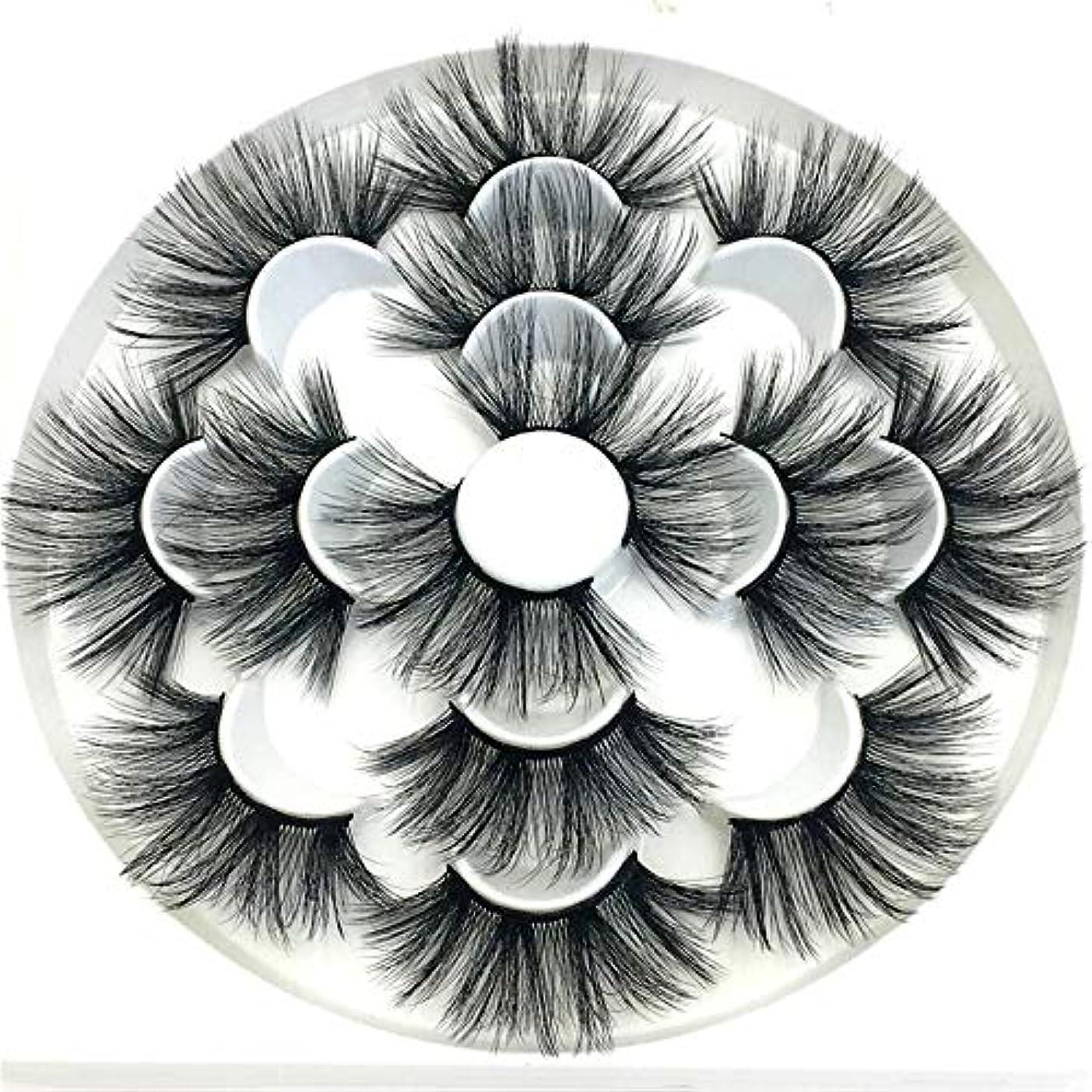 スーパーマーケット反応するに応じてYCRCTC 7/8ペア25ミリメートル3Dフェイクまつげナチュラルロングつけまつげボリュームフェイクはメイク拡張まつ毛はメイクアップまつげ (Color : 2)
