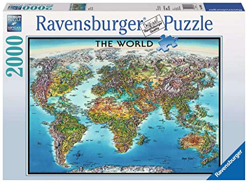 "Ravensburger 16683 Puzzle World Map, Mehrfarbig, 38.5"" x 29.5"""