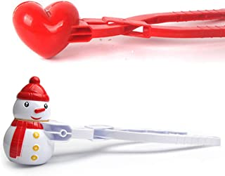 YAPASPT 2 Pack Snowball Maker Tool Large Love Snowman Snow Tool for Fight Winter Outdoor