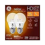 GE Lighting Relax LED HD 4-watt (40-watt Replacement), 300-Lumen A15 Light Bulb with Medium Base, Soft White, 2-Pack