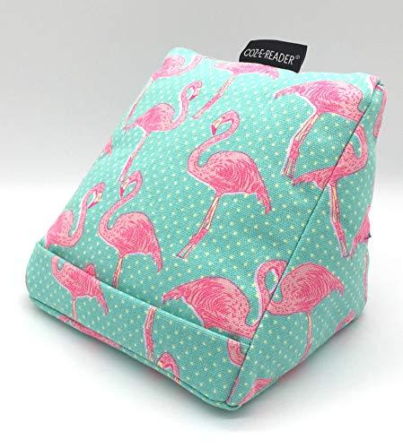 coz-e-reader Kopfkissen für das Kindle, mit Ständer, Pink Flamingo