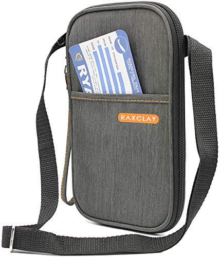 Porta Documenti da Viaggio RFID Famiglia Collo Tracolla Passaporto Portafoglio Carte Credito Nuovo Mod.2021 Blocco Schermato Organizer 20 Scomparti Po