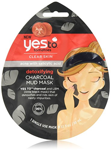 Yes To Tomatoes Mud Face for Acne Prone Skin - Detoxifying Charcoal...