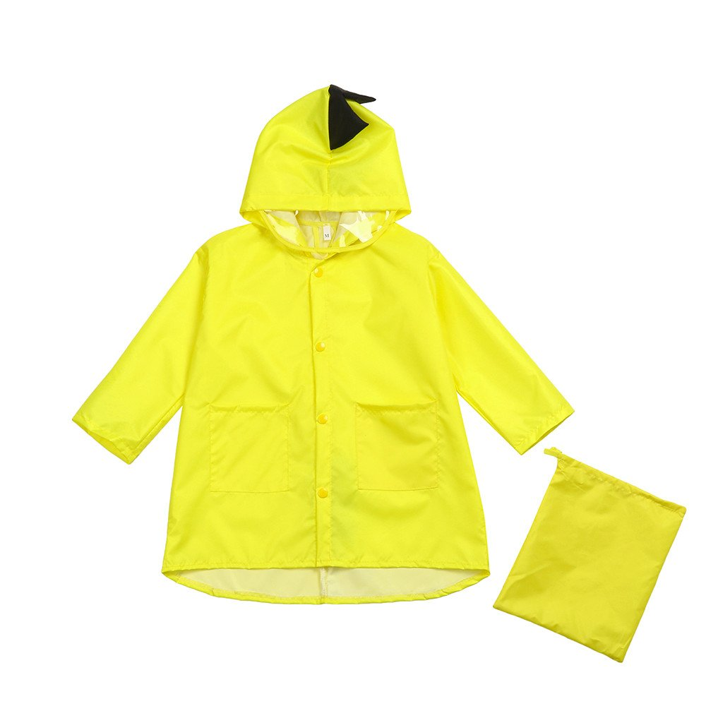 Children's Portable Raincoats Kids Waterpoof Rain Jacket Coat Hooded Rain Ponchos Suit for Toddler Boys and Girls
