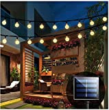 Solar String Lights Garden, 24 Ft 30 Crystal Balls...