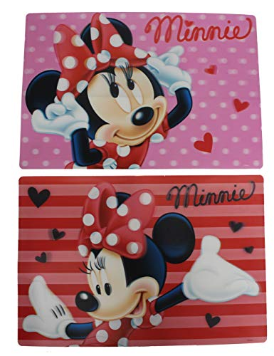 Disney Minnie Maus 3D Tischunterlagen Set Mitgebsel (2 Stück, Set 1)