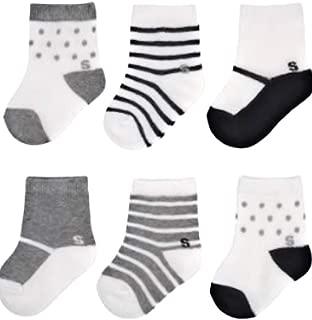 Toddler Girls 6-Pairs Quarter Crew Socks
