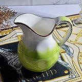 Xilinshop Salsera térmica Creamer, de cerámica con Mango, café Leche Creamer, Pitcher Pitcher Servir la Salsa de Jarra for la Cocina Juego de Salsas (Color : A(2PACK))