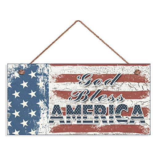 LPLED God Bless America Sign, Weathered Patriotic Decor, Stars and Stripes, American Flag, 6