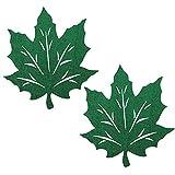WINOMO 2Pcs Ringraziamento Tovagliette Maple Leaf Intaglio Sottobicchieri in Feltro Tessuti Non Tessuti Tazza Stuoia di Tabella per Autunno Autunno Cena Tavolo da Pranzo Decorazioni