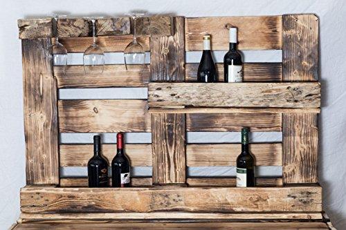 RicoNado Palettenmöbel, Weinregal aus Europaletten, Weinregal, Gewürzregal