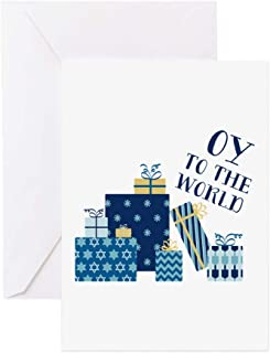 CafePress Oy To World Greeting Cards Greeting Card, Note Card, Birthday Card, Blank Inside Matte