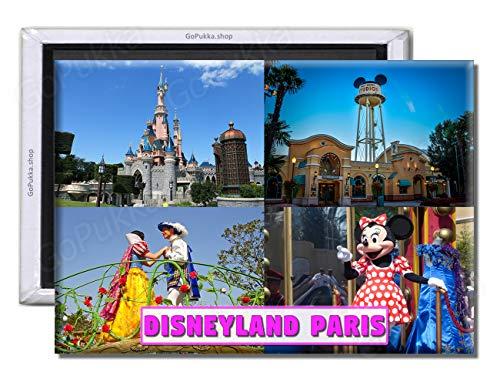 GoPukka - Imán para nevera de Disneyland Paris France (estándar: 70 x 45 mm)